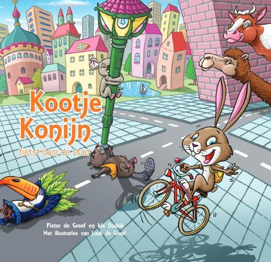 Kootje Konijn - fietst door de stad
